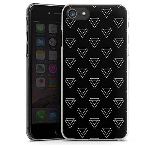 Apple iPhone 5 Tasche Hülle Flip Case Dreieck Geometrisch Muster Hard Case transparent