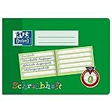 2x Oxford Schreiblernheft, A5 quer, Lineatur 0, 16 Blatt, grün