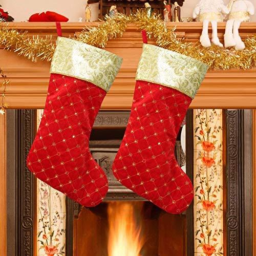 XIANGTAI Rot Filz Weihnachten Urlaub Strümpfe Dekoration für DIY-Set 2Stück-Weihnachten Decor von