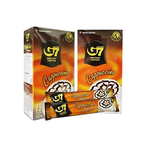 Trung Nguyen Cappuccino Kaffee Mokka Instant Kaffee Umschläge 12 Portionen, 2 Stück