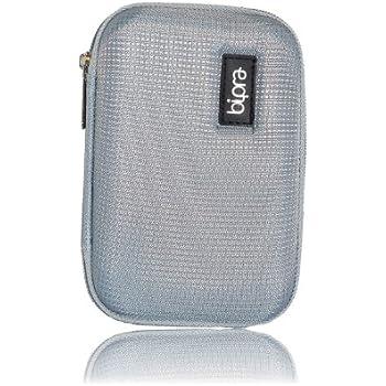 Bipra Protective EVA Case for 2.5 inch WD/Seagate/Toshiba/Clickfree/Portable External Hard Drives - Silver
