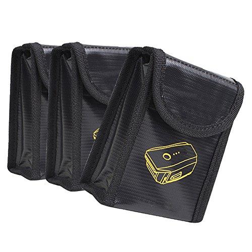 Lipo Batterie Safe Bag Tasche feuerfest - 3x Explosionsgeschützte Lipotasche Sicherheit Pouch Batterie Beutel Brandschutztasche Ideale für Flugzeug-Handgepäck Explosionsgeschützte LiPo-Akku-Tasche