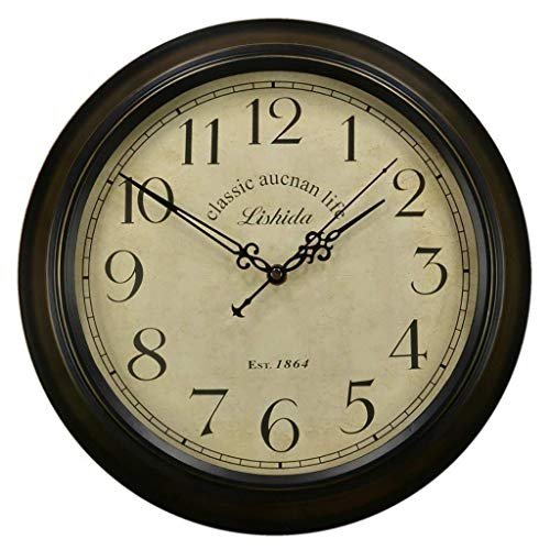 Wanduhr Wanduhr, Retro European Style Retro Wohnzimmer Wanduhr Jane Nostalgic Antique European Nordic Clock Antike Uhr (Size : 14 Inches/35.5cm)