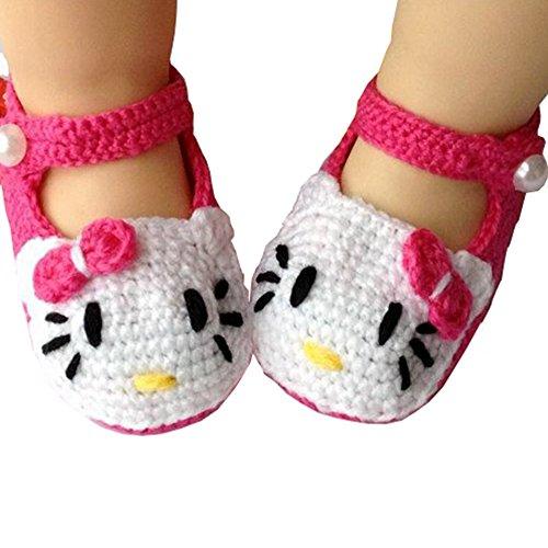 Eleerly - Zapatos ganchillo recién nacida 0 12 meses