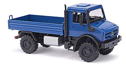busch-51002-mb-unimog-u-5023-flatbed-cmd-vehicle-blue