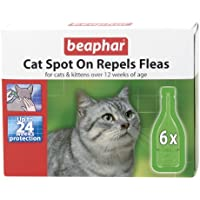 Beaphar Cat Flea Drops - 24 Week Protection X 6