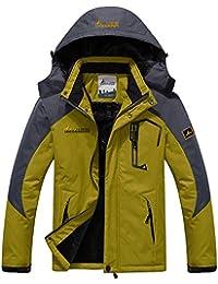 Sawadikaa Hombre Chaqueta de Esquí Chubasqueros Al Aire Libre Impermeable Chaqueta de Nieve Lana Capa Excursionismo Ropa de Deporte