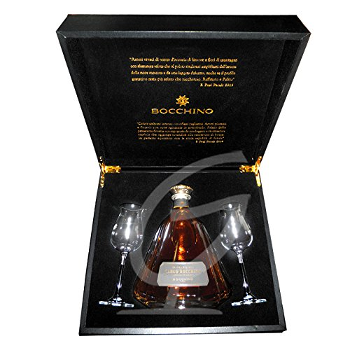 Grappa Carlo Bocchino Riserva with two Glasses and gift box