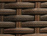 RS Trade 'Sienna' 650l Polyrattan Garten Kissenbox wetterfest (regnet Nicht rein), 155 x 73 x 60 cm, Auflagenbox mit verstärktem Deckel und Gasdruckfedern, geeignet als Sitztruhe oder Tischplatte