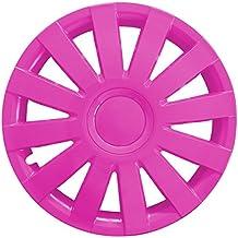 (Farbe & Größe wählbar) 4er Set 16 Zoll AGAT Pink Radkappen Radzierblenden Radabdeckungen (universal)