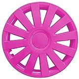 (Farbe & Größe wählbar) 4er Set 15 Zoll AGAT Pink Radkappen Radzierblenden Radabdeckungen (universal)