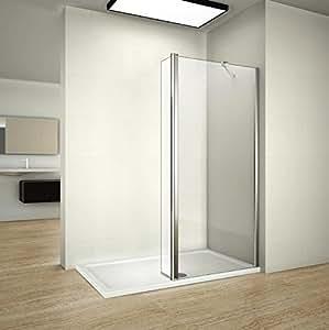 1200mm walk in shower enclosure wet room screen panel for Wet room shower screen 400mm