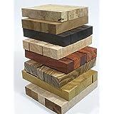 (40unidades) Craft–Pluma de madera Turning espacios en blanco de madera bolígrafos bloque 20mm x 20mm x 127mm, varios tipos de madera