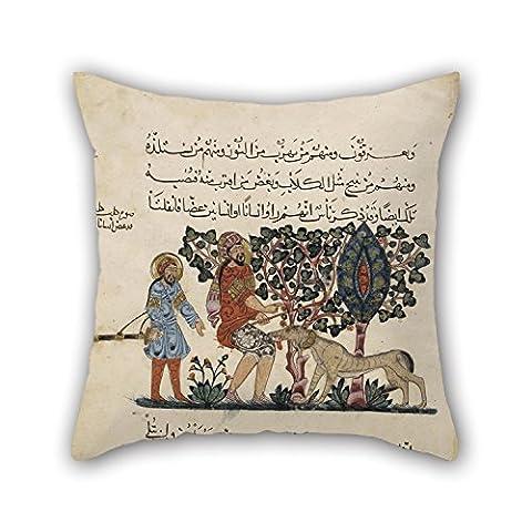 Loveloveu Peinture à l'huile Dioscoride–Folio à partir d'une traduction arabe du Materia Medica par Dioscorides Taies d'oreiller Meilleur pour garçons d'intérieur Festival Valentine Boys proches 18x