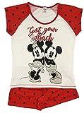 Offiziell lizenzierte Damen Mickey & Minnie Mouse Short Pyjamas UK Größe 20-22