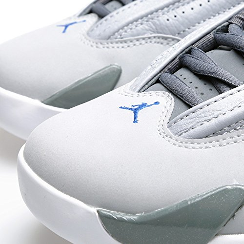 Nike Uomo Air Jordan 14 Retro scarpe sportive wolf grey/sprt blue-cl gry-wht