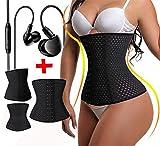 BROWL® Taille Trainer elastisch einstellbar abnehmen Korsett zum Gewichtsverlust (2in1 Sport Ohrhörer Bonus) (XXL)