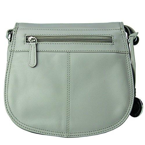 Damen Umhängetasche Leder Handtasche, kleine Umhängetasche Schultertasche Abendtasche Mini Special Design Hochwertige Handgefertigt (Lila) Jenes & Jandura