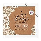 Paargeschenk 100 Dinge Buch Geschenk Hochzeitstag Geburtstag Jahrestag Valentinstag Ausfüllbuch Buch zum Ausfüllen Hardcover 100 Seiten Sweet Vintage