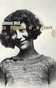 La personne et le sacré par Simone Weil