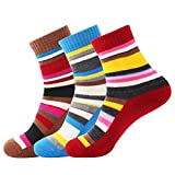 3 Pairs Women Walking Hiking Socks - No Blister, Breathable, Warm, Moisture Wicking