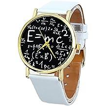 Culater® de Lujo para Mujer SíMbolos MatemáTicos Ginebra Faux Reloj de Cuero de Cuarzo AnalóGico