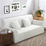 LY&HYL All-Season Jacquard Knitted Sofa Stretch Slipcover Sofa tight wrap all-inclusive slip-resistant White sofa cover elastic Single/Two/Three/Four-seater , 235*300Sofa Cover