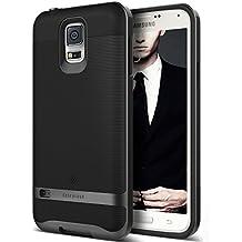 Funda Galaxy S5, Caseology® [Serie Wavelength] Duradero Antideslizante Gota de Protección [Negro] para Samsung Galaxy S5 (2014) - Negro