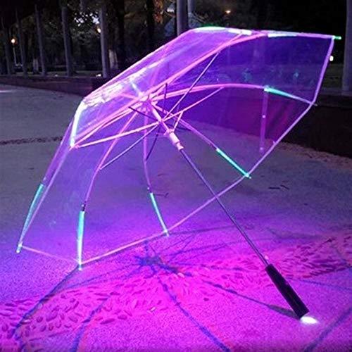 BEITAI Paraguas LED Linterna Paraguas Transparente