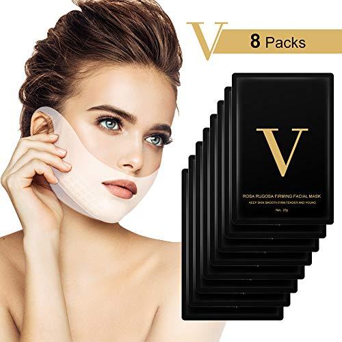 V-Linie Masken, Hailicare 8 Stück V-Form Maske für Kinn Linie Kontur Lifting Up Firming Moisturizing Gesichtspflege -