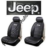 """Sitzbezug Sitzbezüge Jeep mit bestickten """"JEEP"""" Logo (PAAR)"""