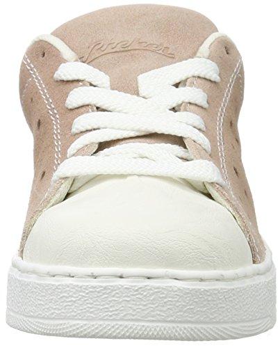 Rieker L1126, Scarpe da Ginnastica Basse Donna Multicolore (Bianco/rosa/argento / 80)