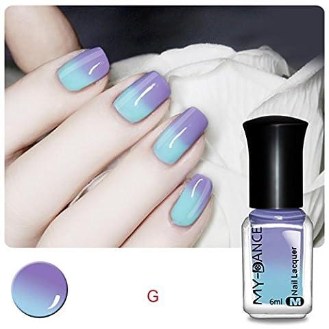 Ularma Thermique Des ongles Vernis Changeant de couleur Décollez Vernis Beauté Sexy Produit de beauté G