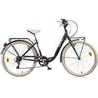 "Bicicletta da Donna 26"" 1026CYC City Aurelia Nero"
