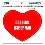 Graphics and More Mag-Neato 's-TM Auto Kühlschrank Vinyl Magnet I love Herz City Country D-F, Douglas Isle of Man