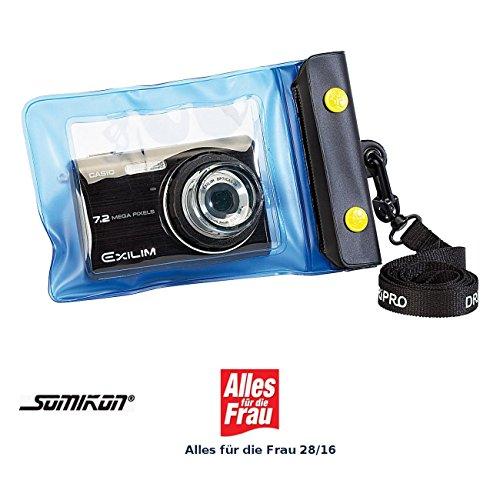 Somikon Fotokamera Tauchgehäuse: Unterwasser-Kameratasche L mit Objektivführung Ø 38 mm (Fotokameras Tauchgehäusen)