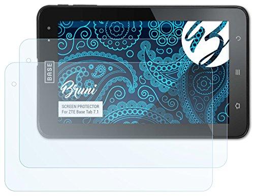 Bruni ZTE Base Tab 7.1 Folie - 2 x glasklare Displayschutzfolie Schutzfolie