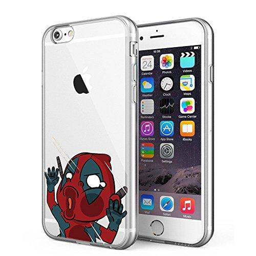 Blitz® POWER RANGER motifs housse de protection transparent TPE iPhone Spiderman M12 iPhone 6 6s Ninja M9