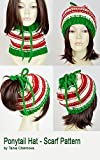 Christmas Hat Pattern Ponytail Hat With Hole Santa Claus Knit Hat Christmas Scarf Pattern Knit Beanie Pattern Hole Hat Ponytail Beanie With Hole Knit Santa Hat Xmas Christmas Beanie
