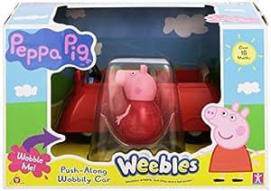 Peppa Pig Weebles Push Along Wobbily Car