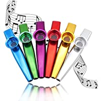 Kazoos Multipack Metal kazoo Instrument, Set of 6 Colorful(Great Gift for Kids Music Lovers,Kazoo Kid Trap Music)