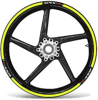 2 Tono Ametista Ruote Moto Cerchione Inner Rim Tape Decalcomanie Adesivi per Suzuki GSXR 1000
