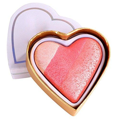Allbesta - Fard arc-en-ciel Baked Blush - Forme de cœur - 1 fard
