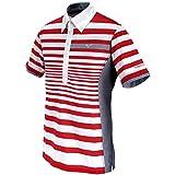 Mizuno Golf Style Up Border Polo T Shirt - Virtual Pink (XL)