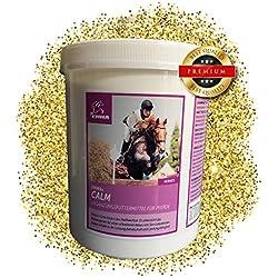 EMMA Magnesium Vitamin E fürs Pferd I Calm I Pferdefutter Plus Magnesium & Vitamin E - Starke Nerven I Beruhigung für`s nervöse Pferd I Pellets I Ergänzungsfutter Anti Stress 1 Kilo