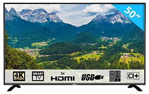 HKC 50F1: 127 cm (50 Zoll) Smart-TV LED Fernseher (4K Ultra HD, Triple Tuner, Andoid 6.0, H.265 HEVC, CI+, Mediaplayer USB 2.0) [Energieklasse A]