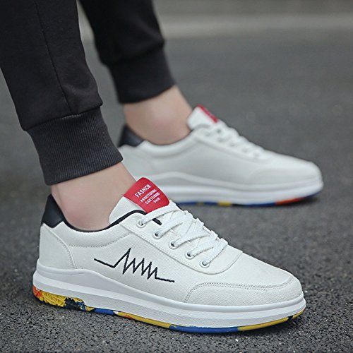 XUEQIN scarpe da uomo trendy bianco scarpe scarpe casual scarpe scarpe di tela autunno ( Colore : 3 , dimensioni : EU39/UK6.5/CN40 ) 6