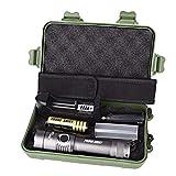 HCFKJ XML T6 LED Taschenlampe Lampe + 18650 Batterie + Ladegerät + Fall