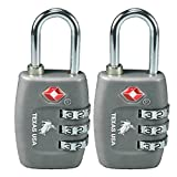 Texas Usa Pack Of 2 Metal Dark Grey Luggage Lock
