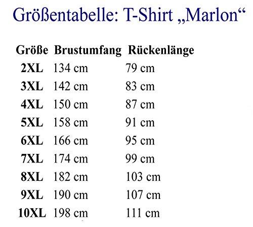 Doppelpack T- Shirt MARLON in grau - von ADAMO - bis große Größe 86/88 – 10XL Grau
